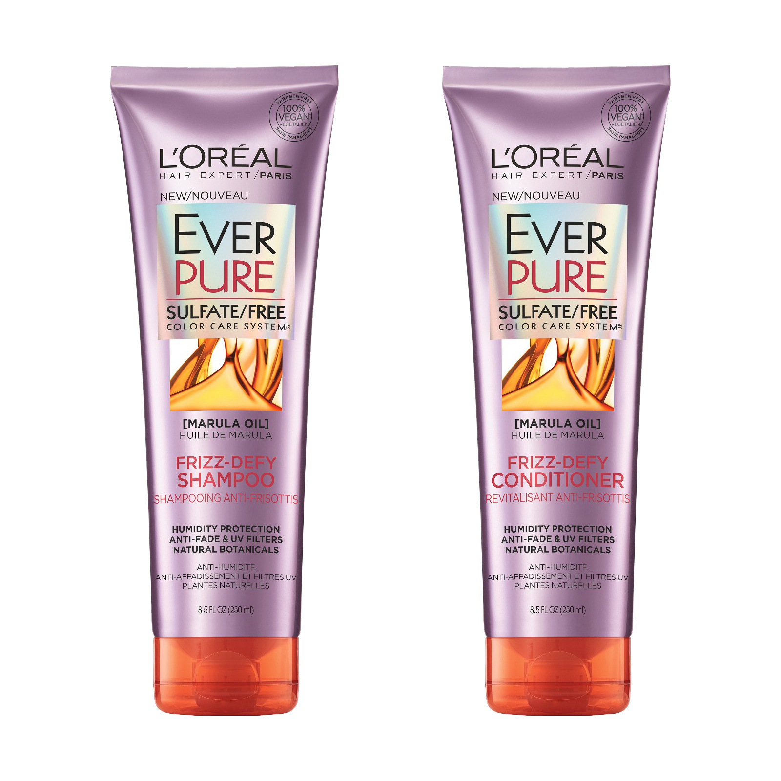L'Oreal Paris EverPure Sulfate-Free Frizz-Defy Shampoo and Conditioner