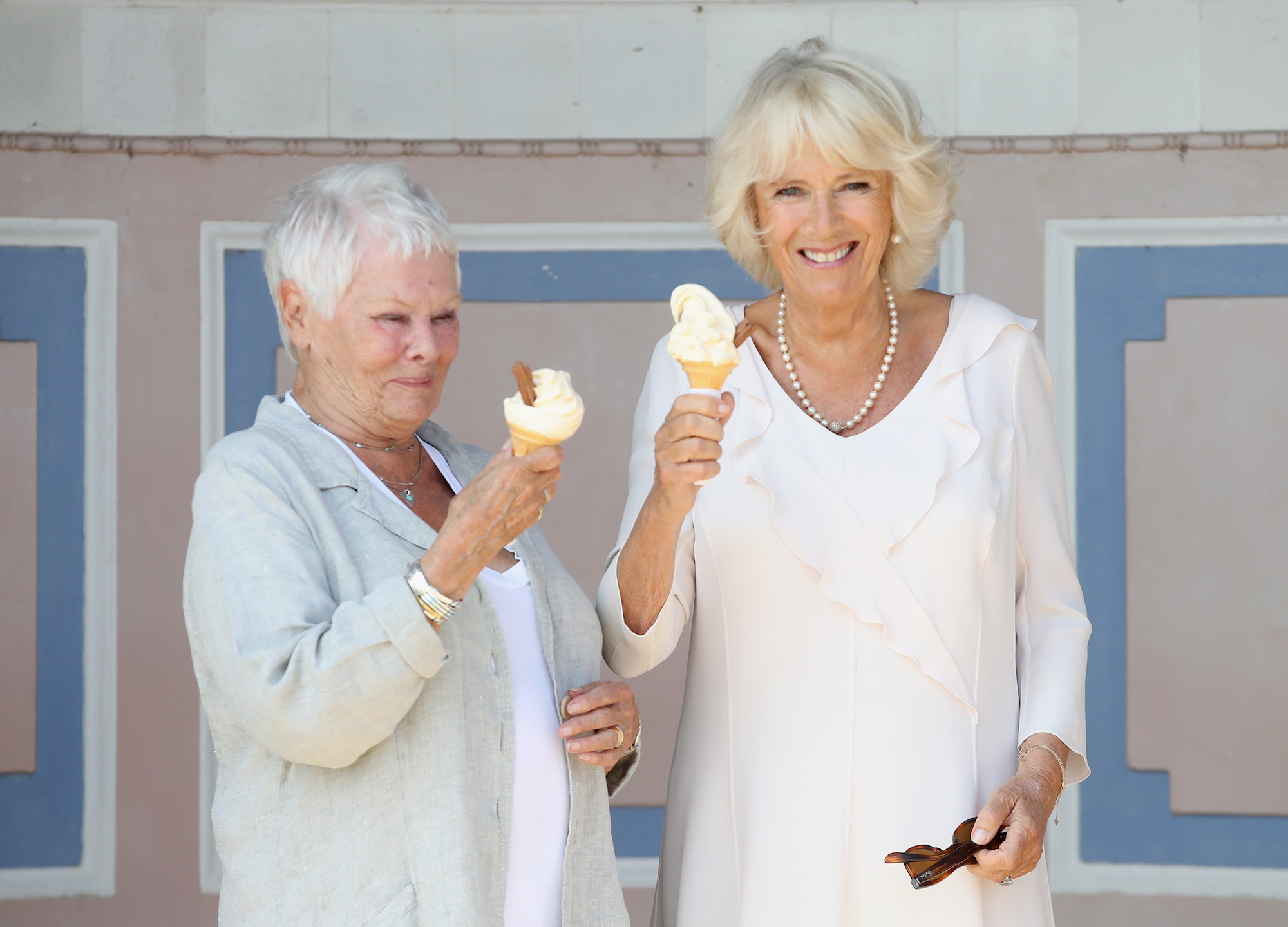 Duchess Camilla and Judi Dench Beat the Heat with Ice Cream at Queen Victoria's Holiday Home