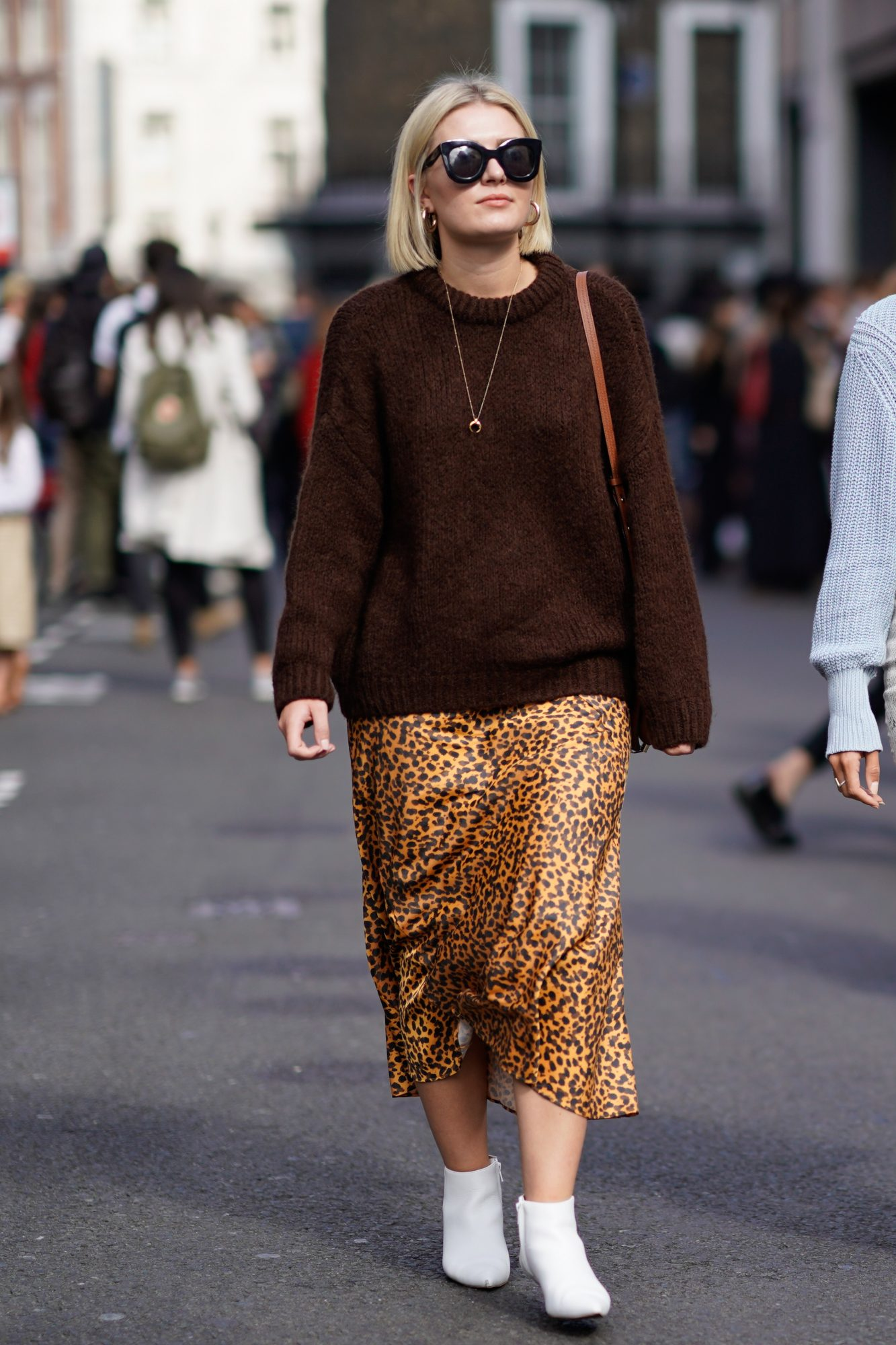 Style Your Skirt With a Cozy Sweater
