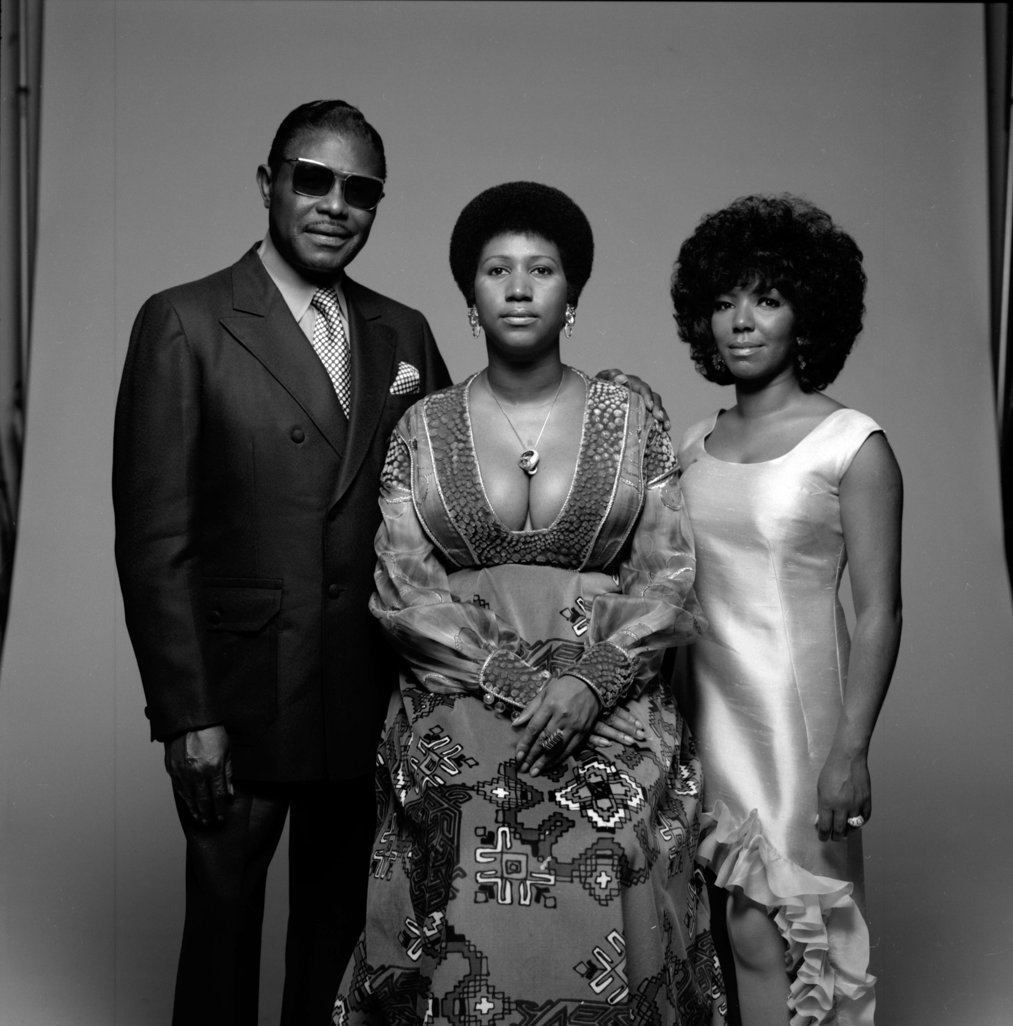 Portrait Of Aretha Franklin & Family
