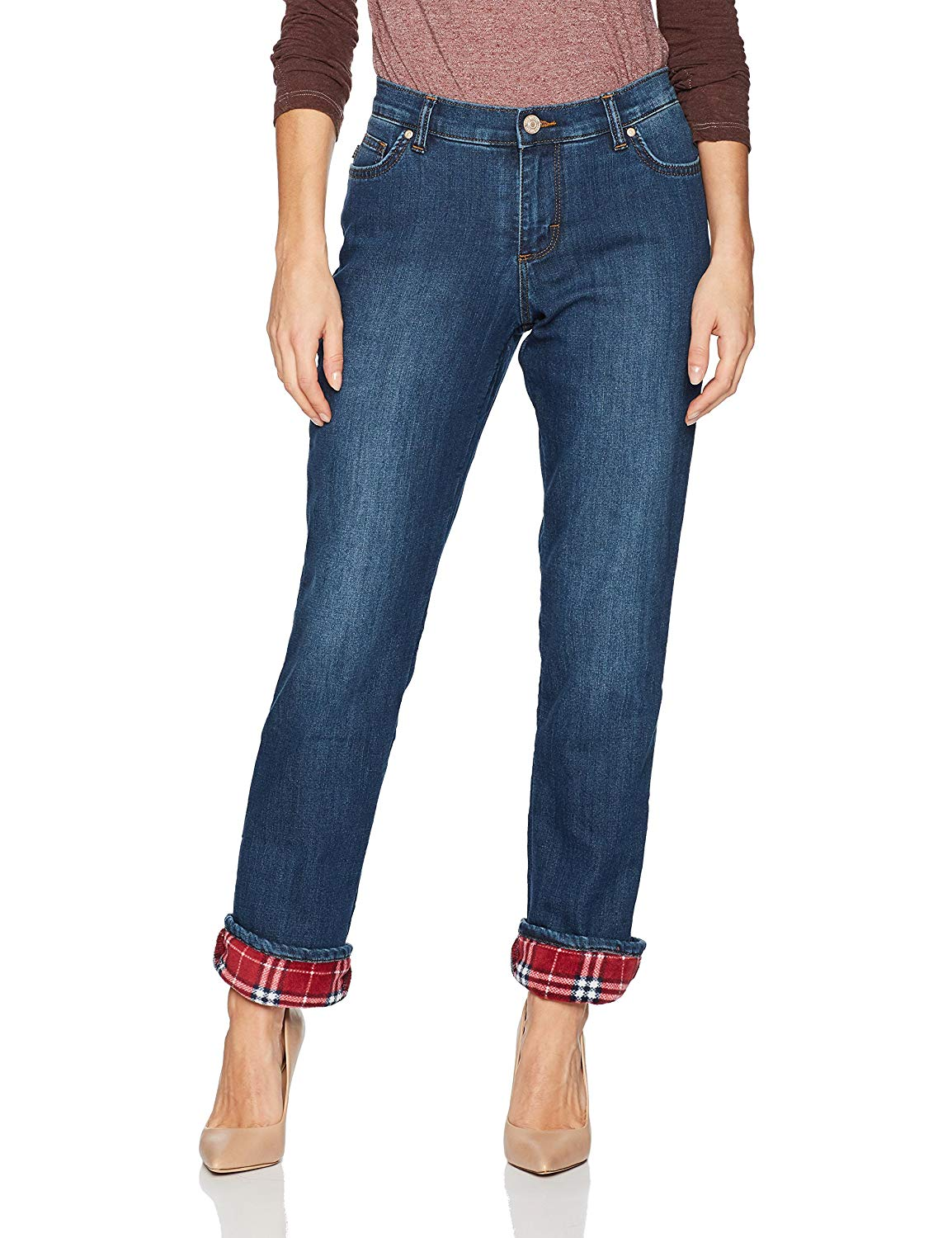 Fleece Lined Relaxed Straight Leg Jean