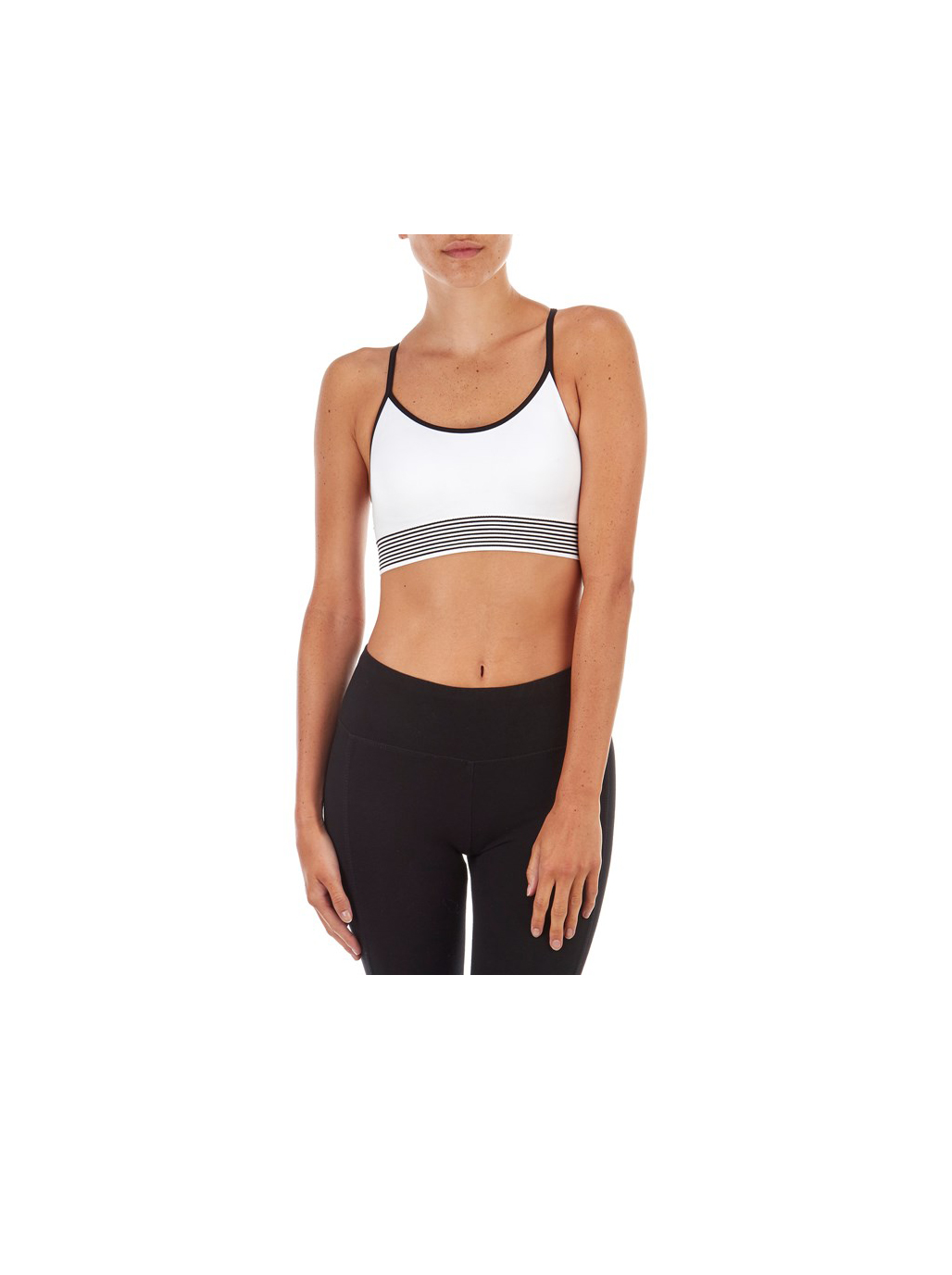 For a good sports bra that can withstand all kinds of physical activity, invest in one like the Bally Strappy Back Sports Bra, with removable cups and a criss-cross back for extra support.