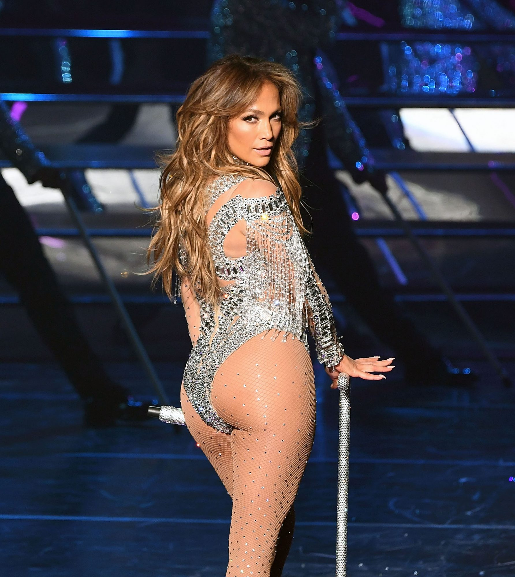 J.Lo Closed Out Her Vegas Residency by Twerking in a Liquid Silver Bodysuit