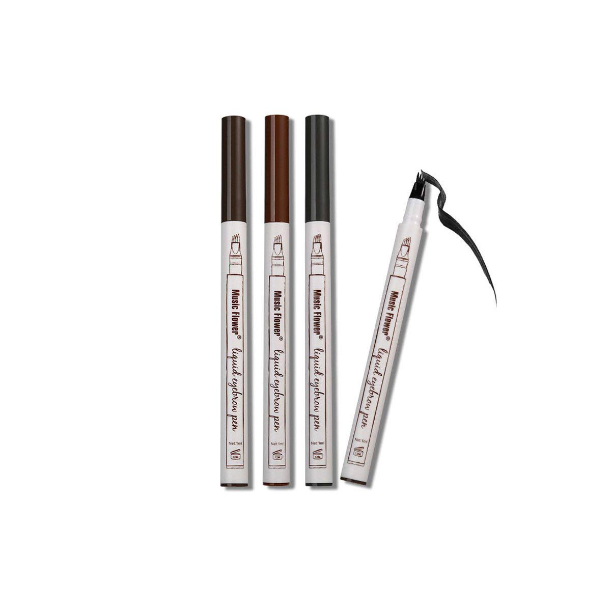 Music Flower Liquid Tattoo Eyebrow Pen