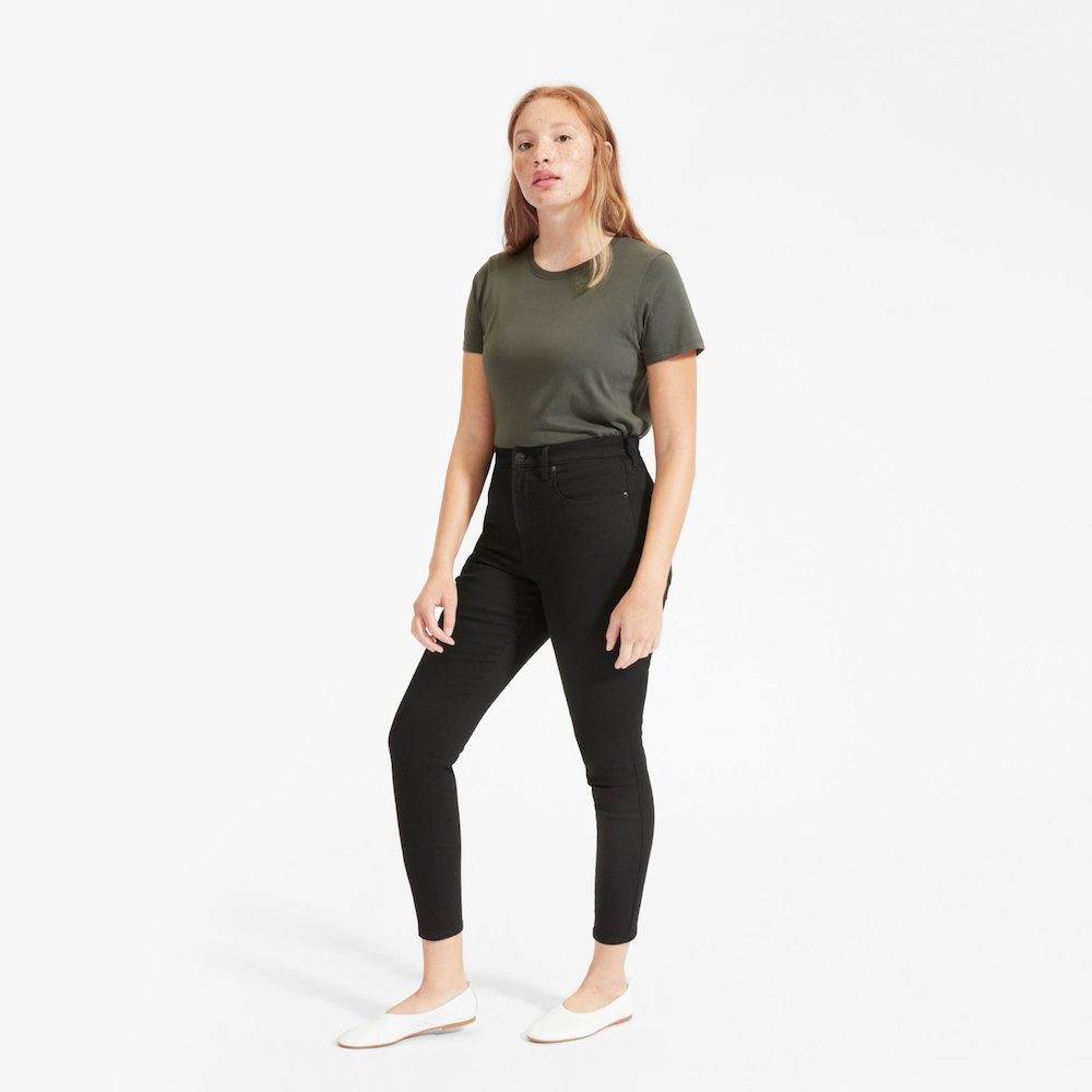 Everlane Authentic Stretch High-Rise Skinny Ankle Jean: Everlane Sale on All Denim