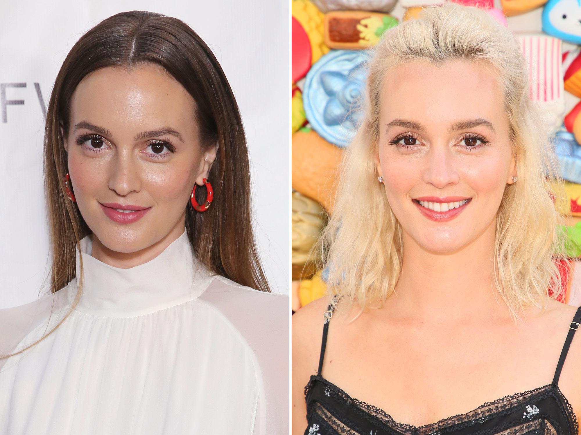 Leighton Meester's Platinum Blonde Hair