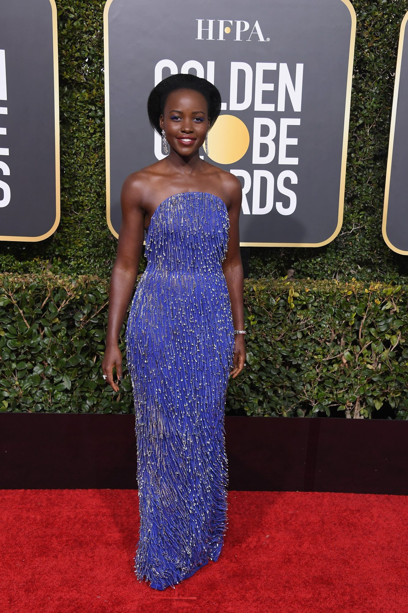 Lupita Nyong'o Wore the Most Comfortable $45 Heels to the 2019 Golden Globes