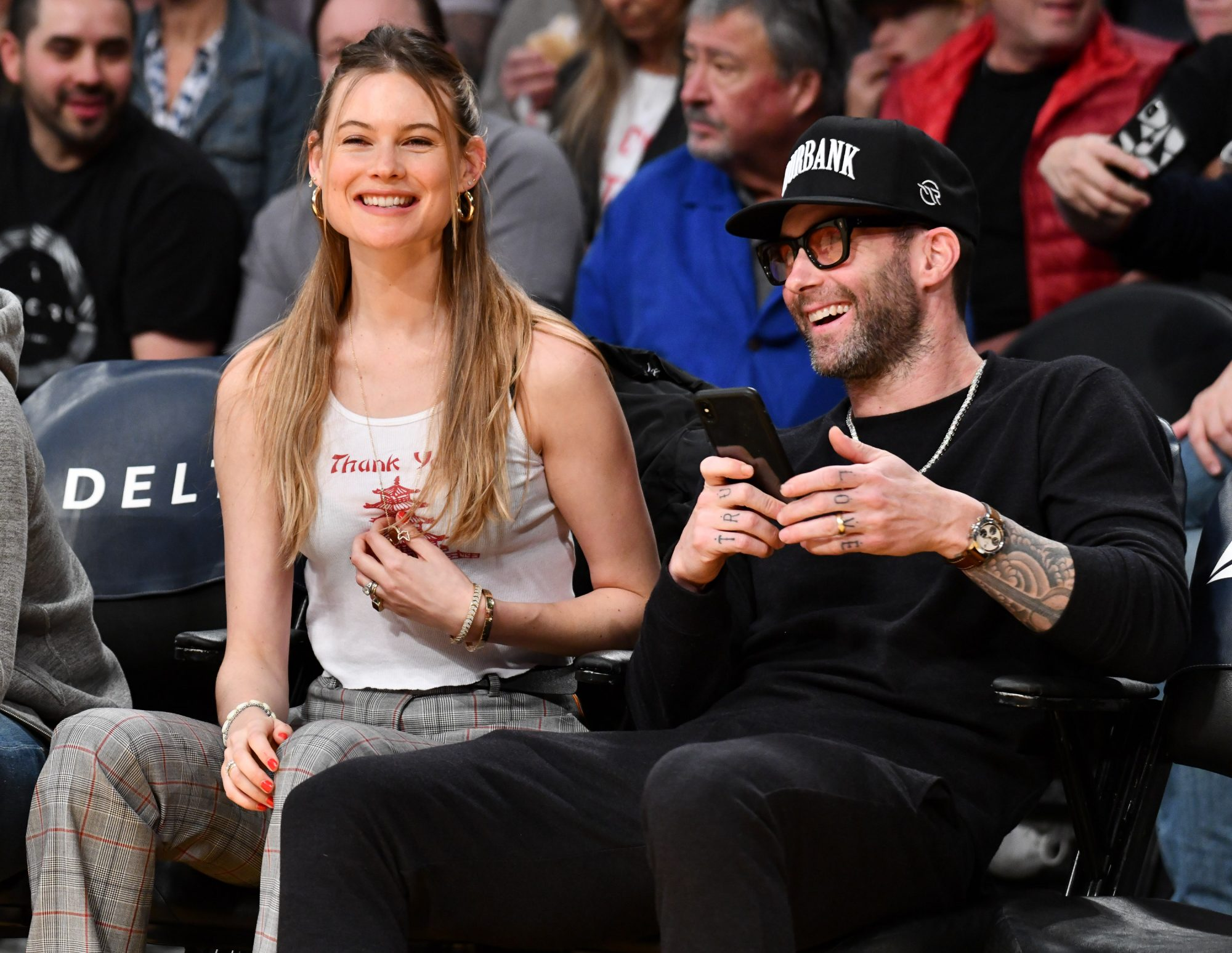 "Behati Prinsloo Describes the ""Awkward"" Moment She and Adam Levine Met in Person"