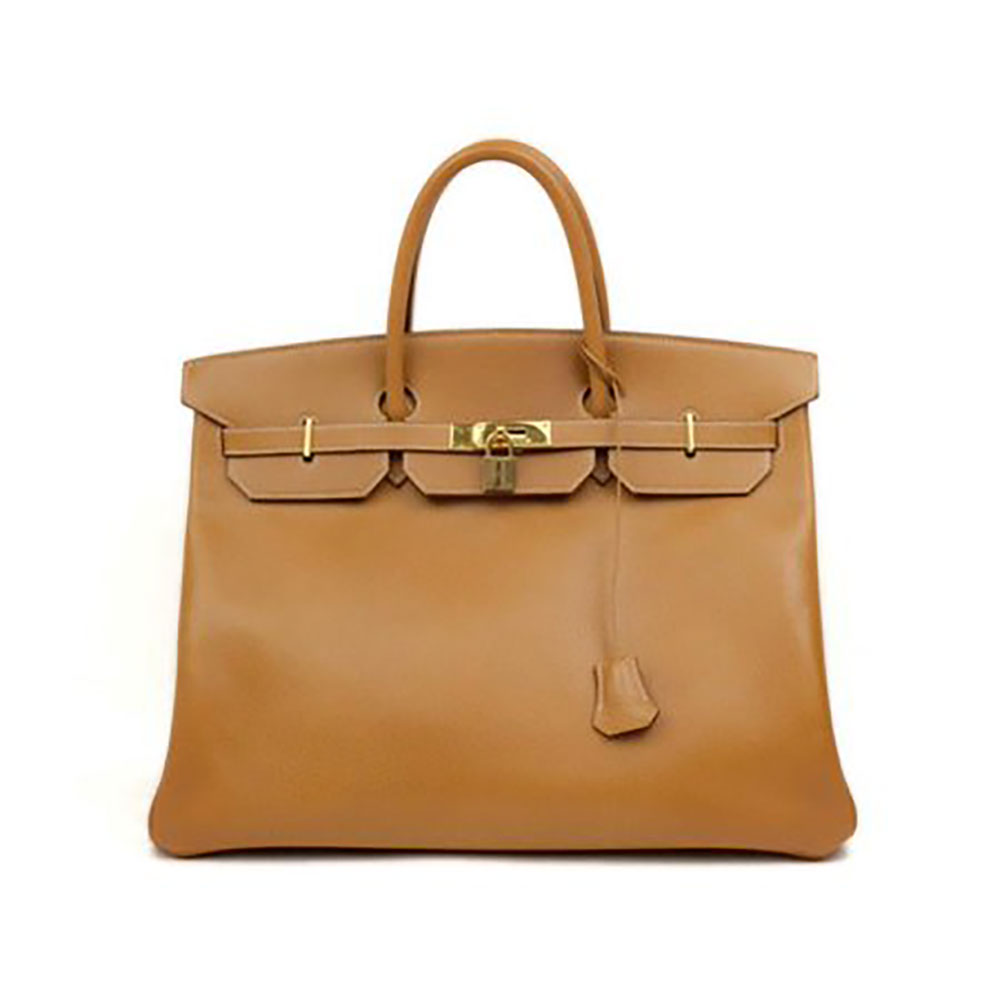 Hermès Birkin Ghw 226245 Brown X Gold Ardennes Leather Shoulder Bag