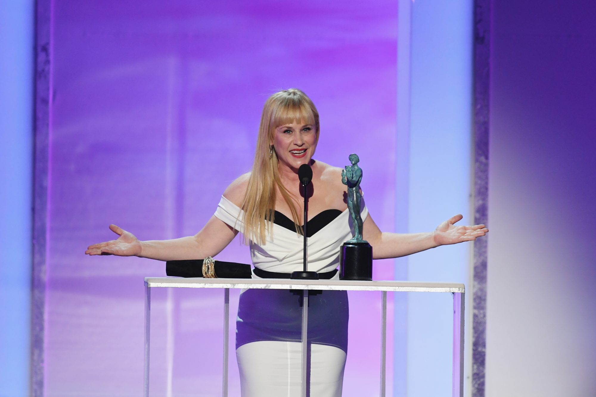 Patricia Arquette Made a Surprising Shout Out in Her SAGs Acceptance Speech and Twitter Is Freaking Out