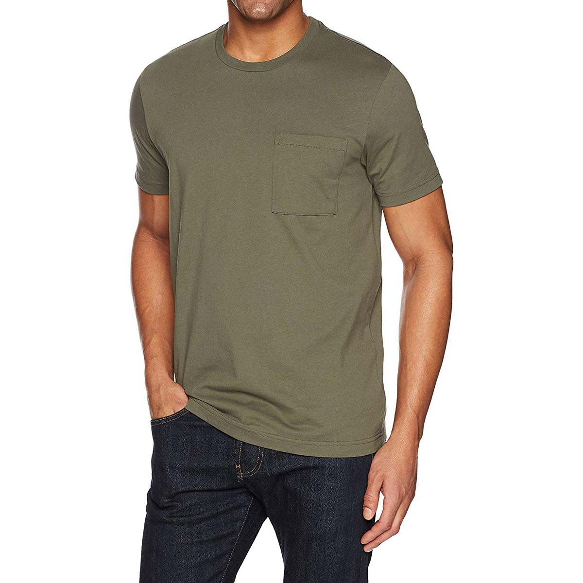 The Pocket T-Shirt: Goodthreads Men's Short Sleeve Crewneck Cotton T-Shirt