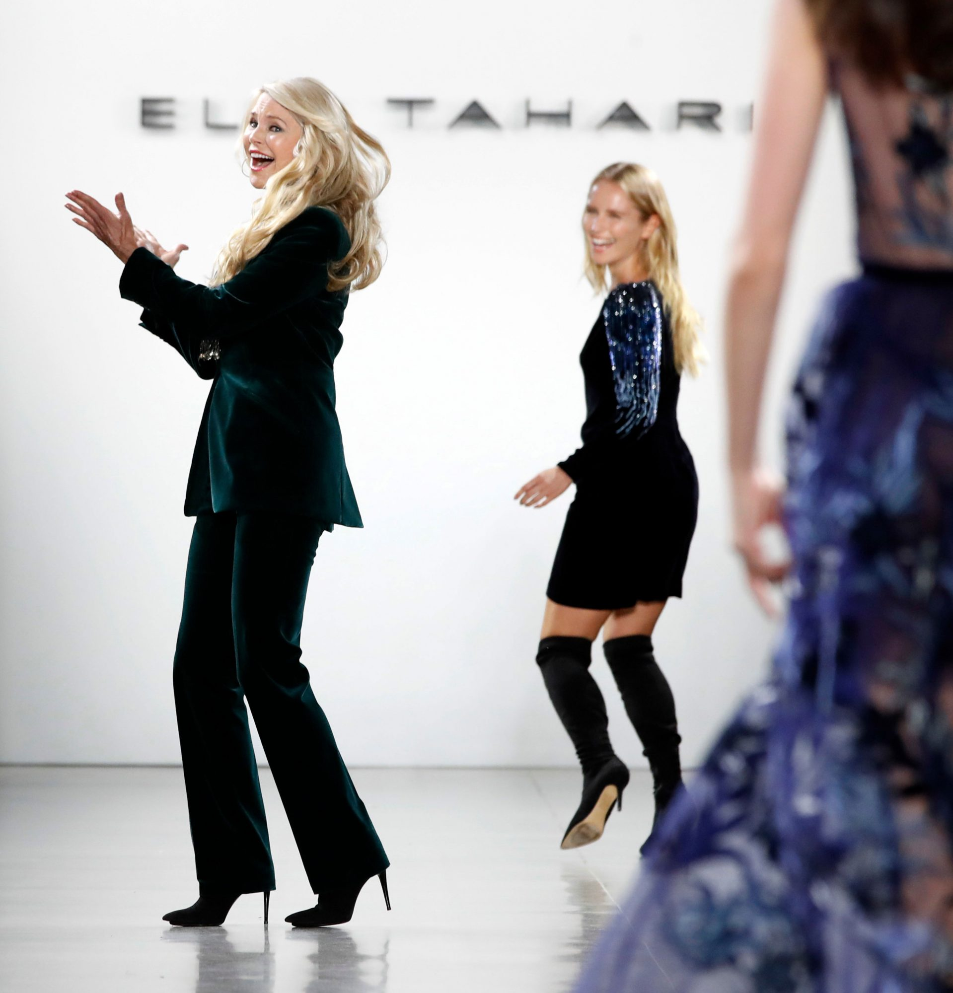 170b79be16b Christie Brinkley and Sailor Brinkley Cook on the Runway at New York ...