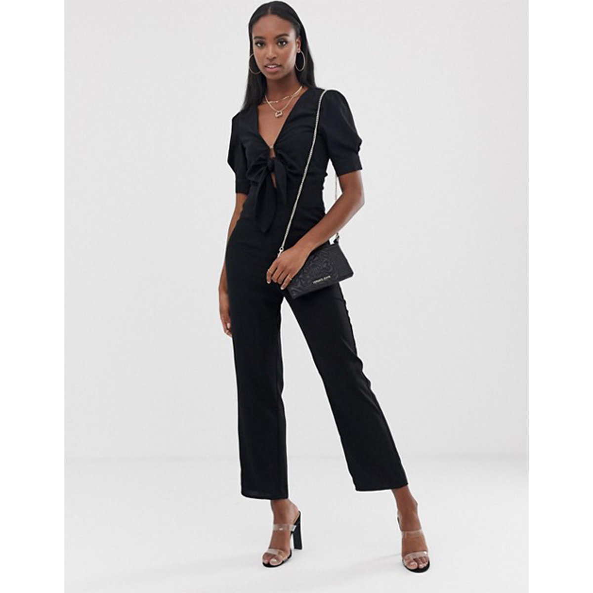 b3cf0620263c Fashion Union Tall Tie Front Jumpsuit