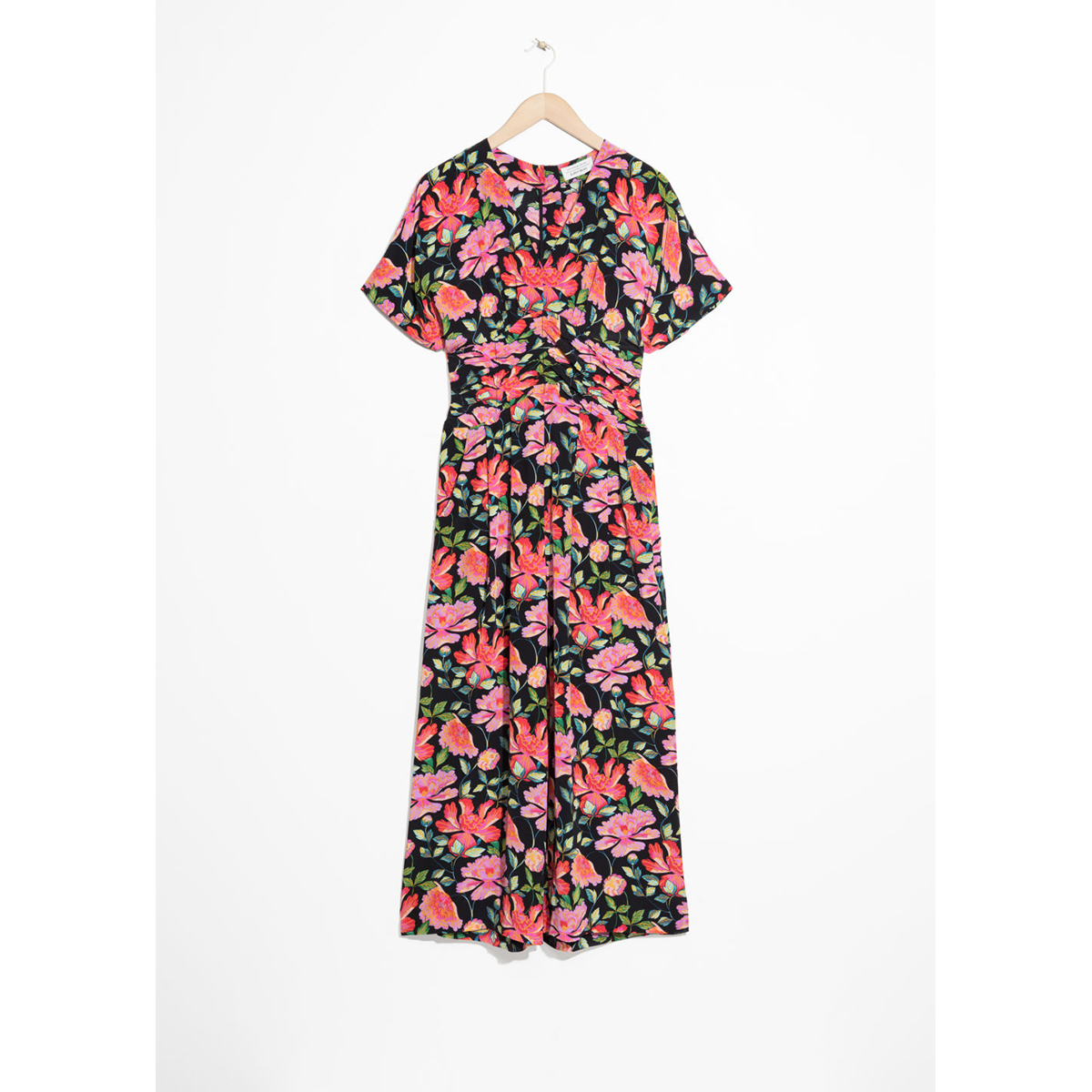& Other Stories Peony Print Jumpsuit