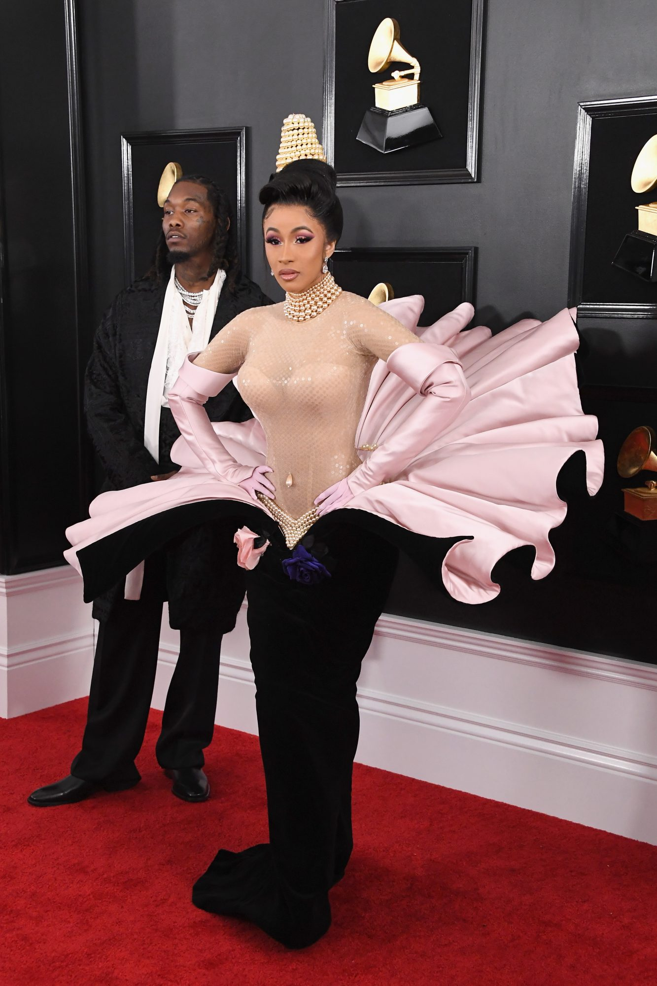 Everything Cardi B's Vintage Couture Grammys Dress Reminded Us Of