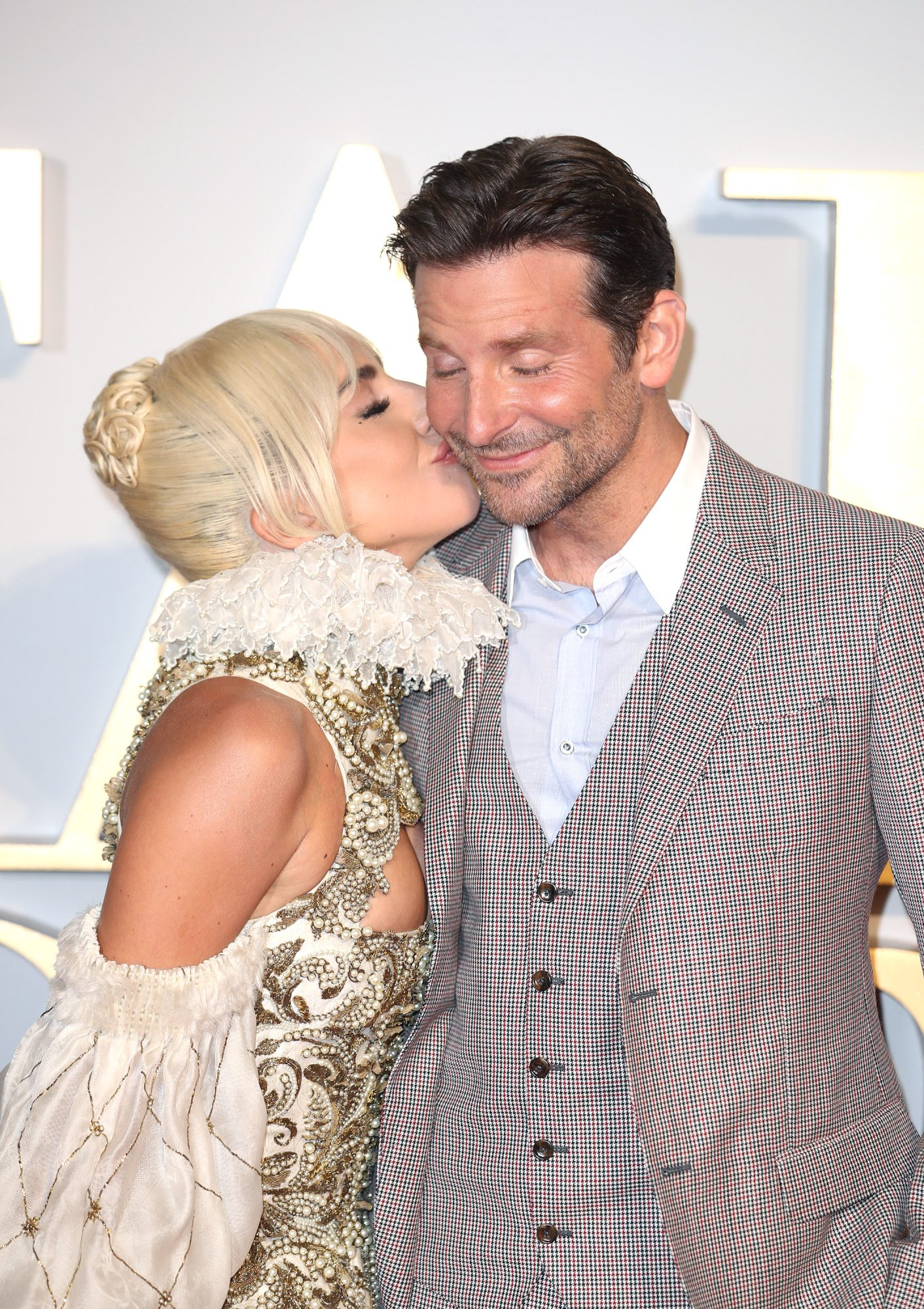 "Bradley Cooper Says He Was ""Very Lucky"" to Have Lady Gaga in A Star Is Born"