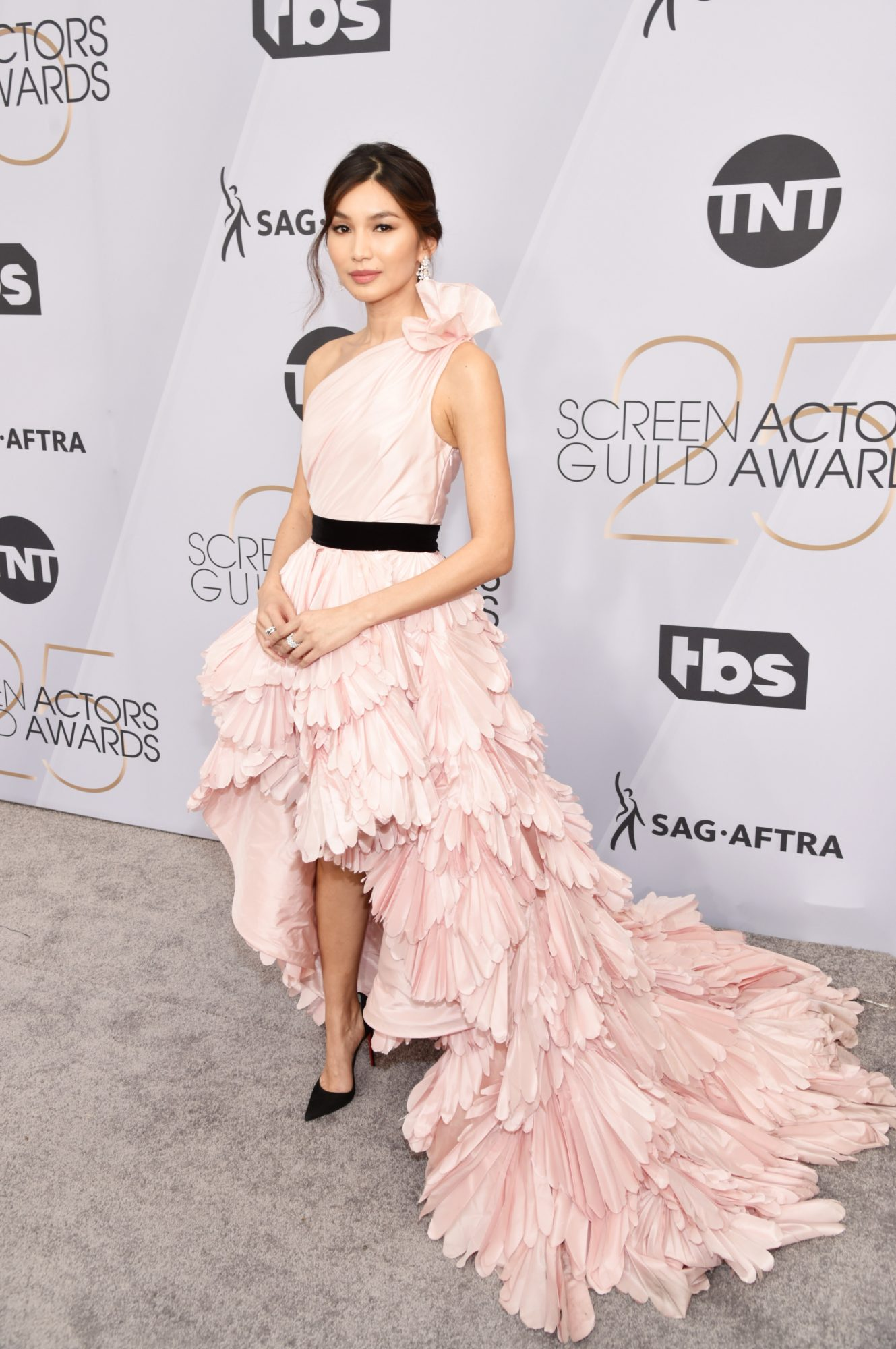 Forget Princess Dresses, Gemma Chan's Pink Gown Is an Oscars Dream Come True
