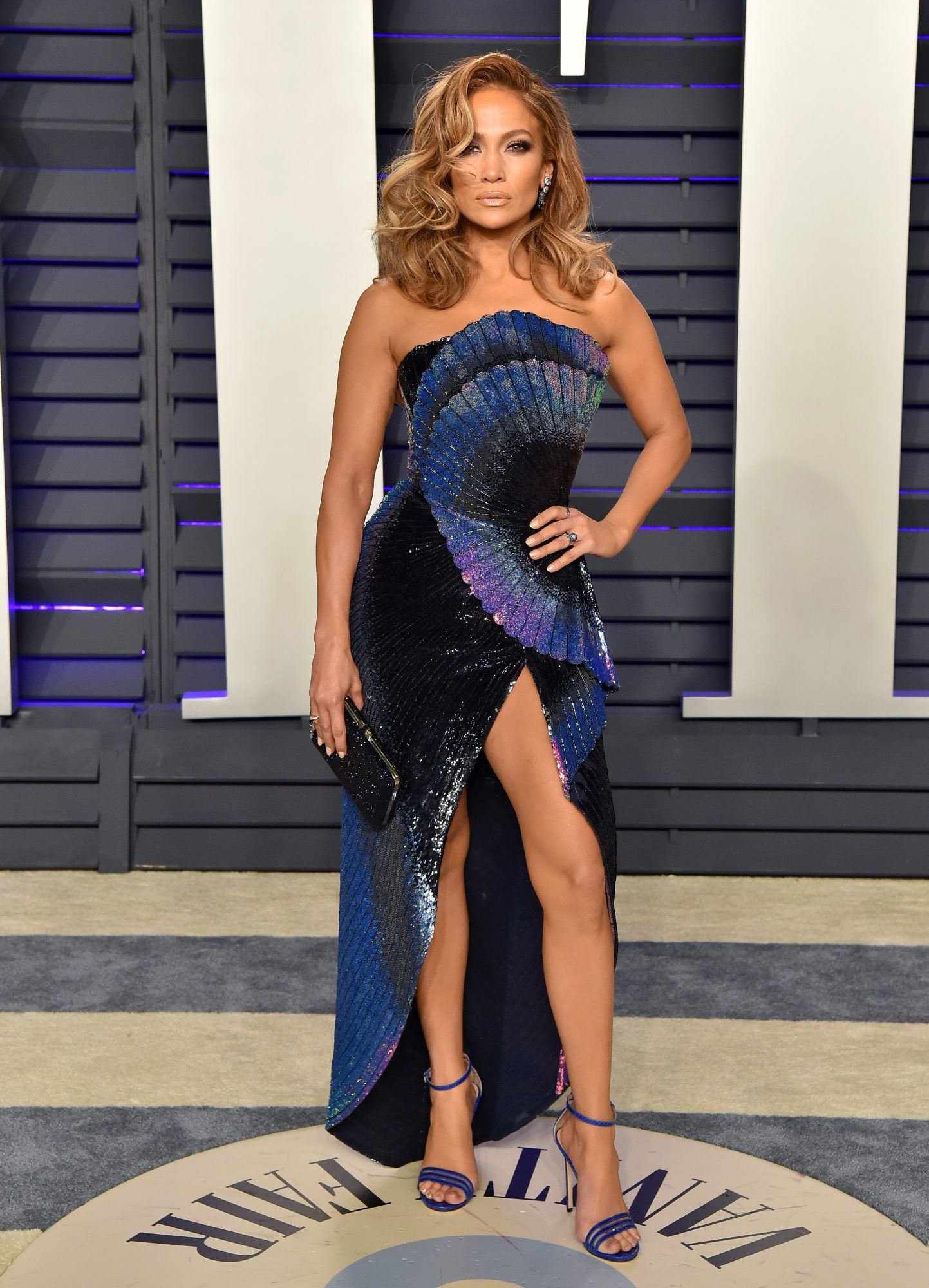 jennifer lopez's vanity fair party dress was almost as