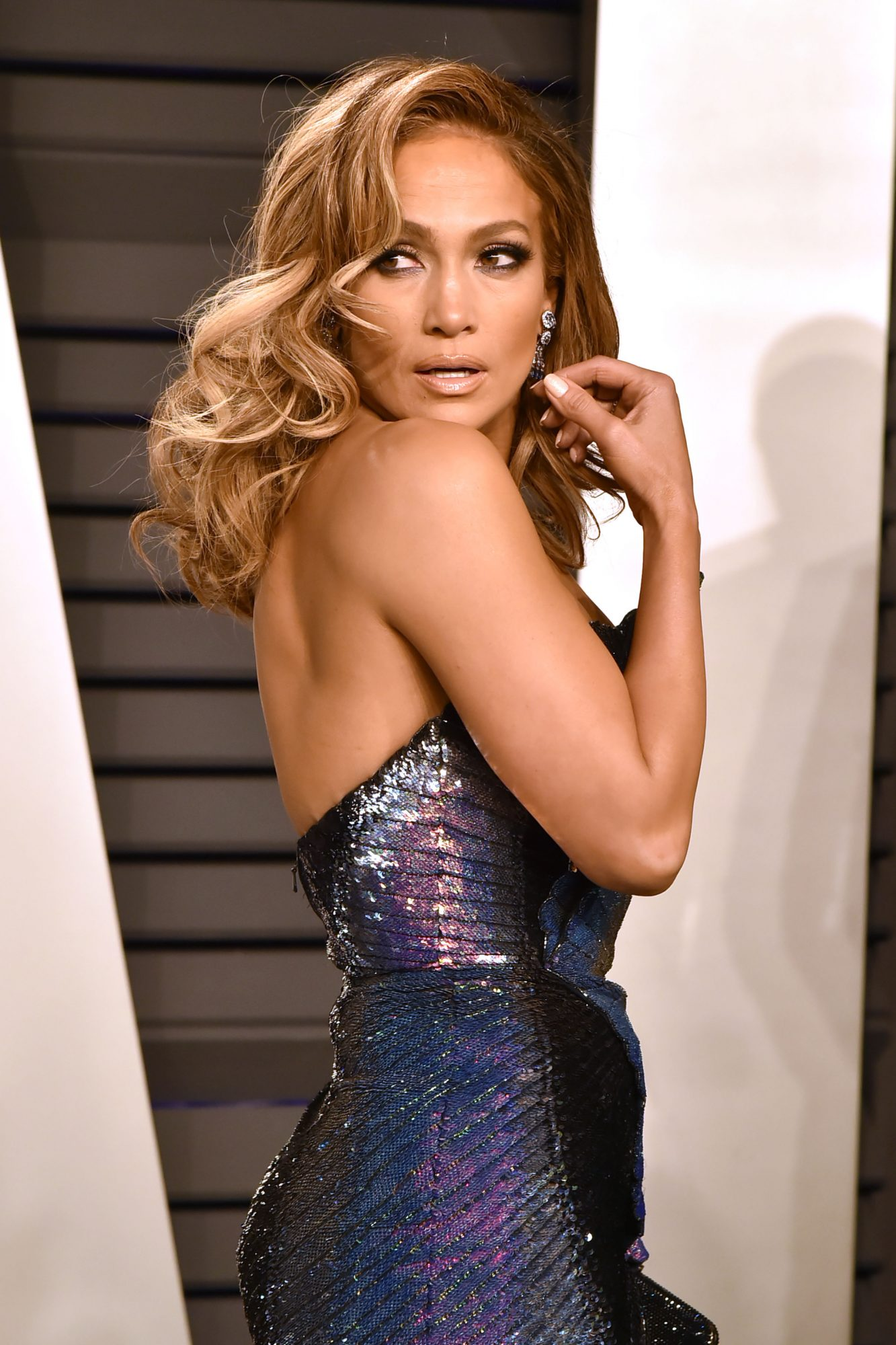 Jennifer Lopez Channeled Rainbow Fish at an Oscars After-Party