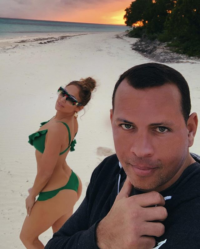 The Trendy Swimsuit Jennifer Lopez Wore Twice on Her Engagement Trip
