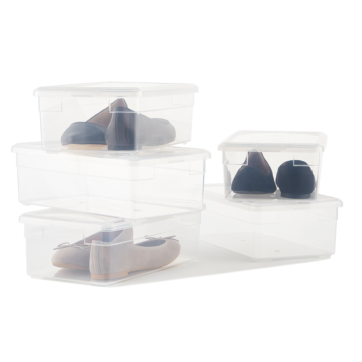 Clear Shoe Boxes