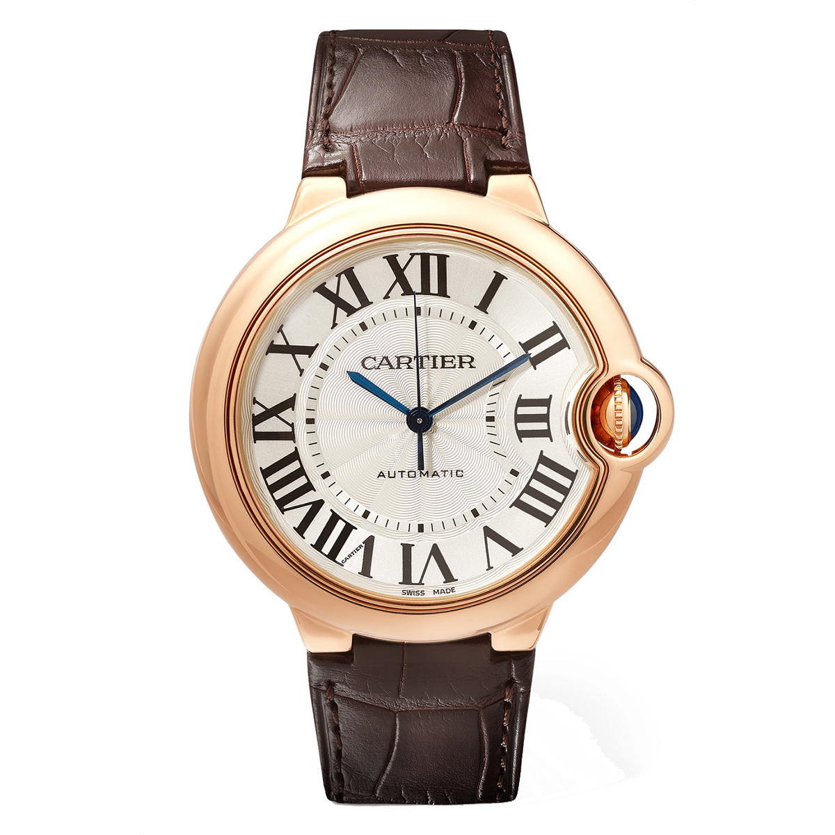 Cartier Ballon Bleu de Cartier Pink Gold Alligator Watch