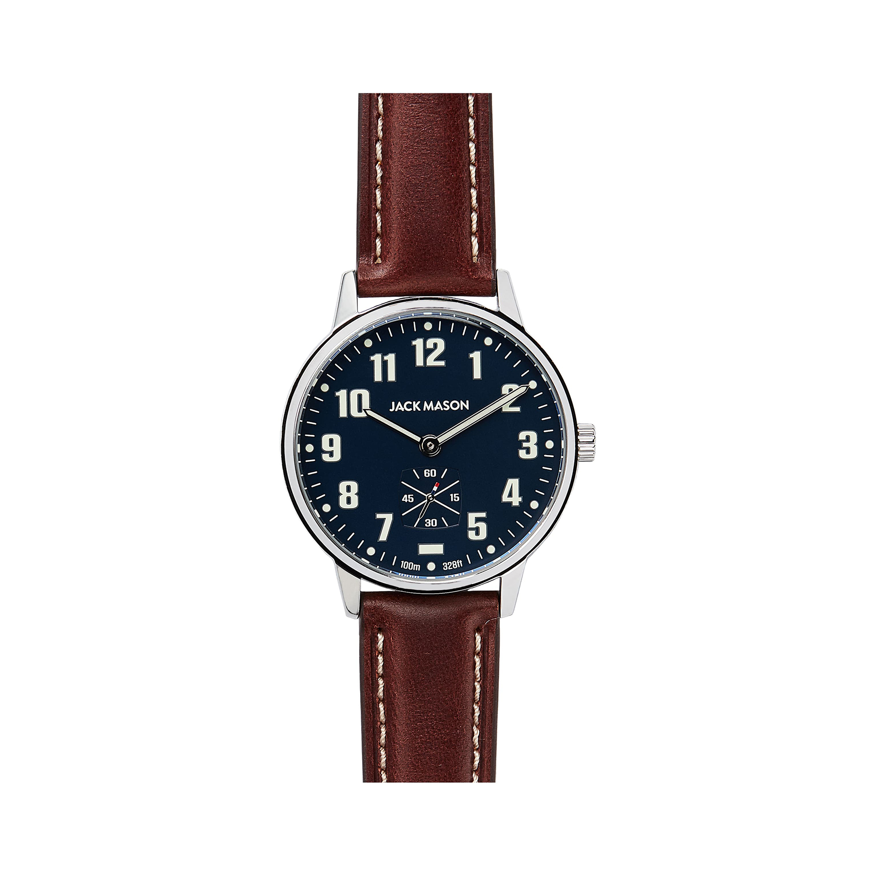 Jack Mason Field Leather Strap Watch