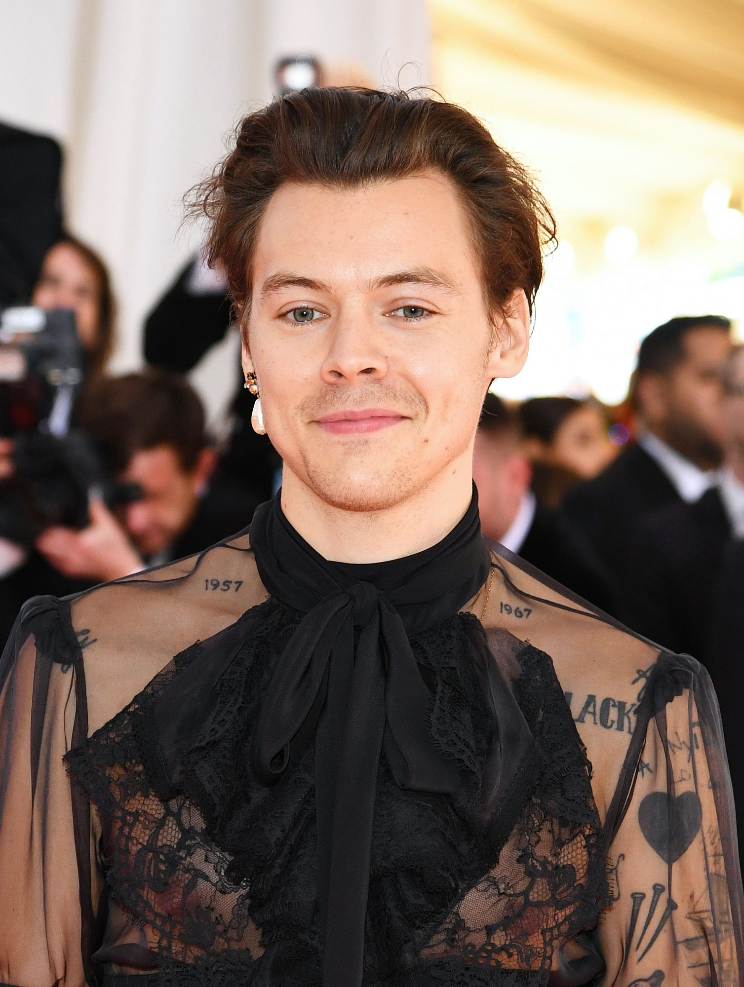 Harry Styles Just Wore a Sheer Jumpsuit to the Met Gala, and OMG, He Looks So Good
