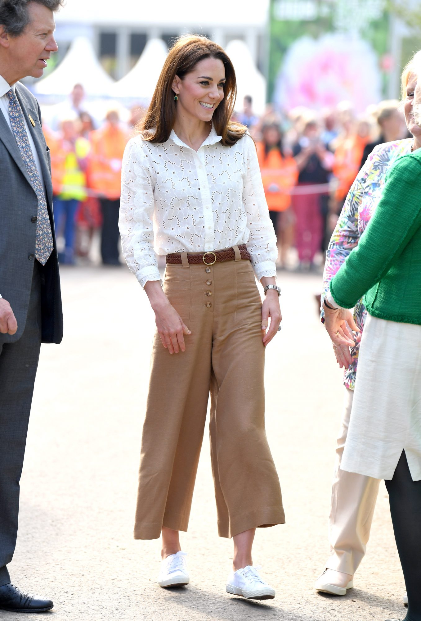 Kate Middleton Breaks Her Spring Style Formula for Sneakers and Capri Pants