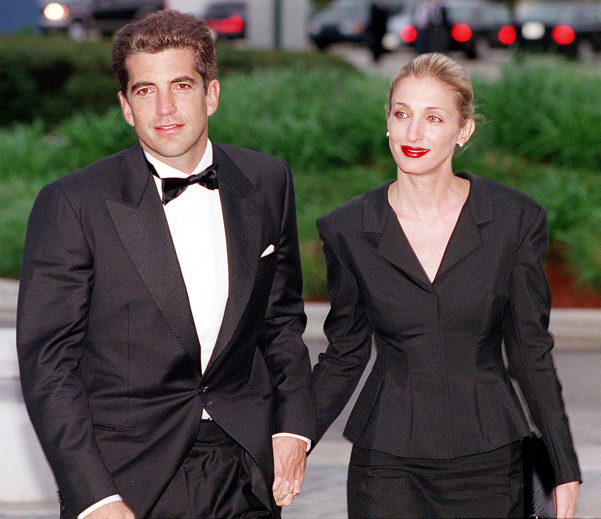 John F. Kennedy, Jr. and his wife Carolyn Bessette Kennedy