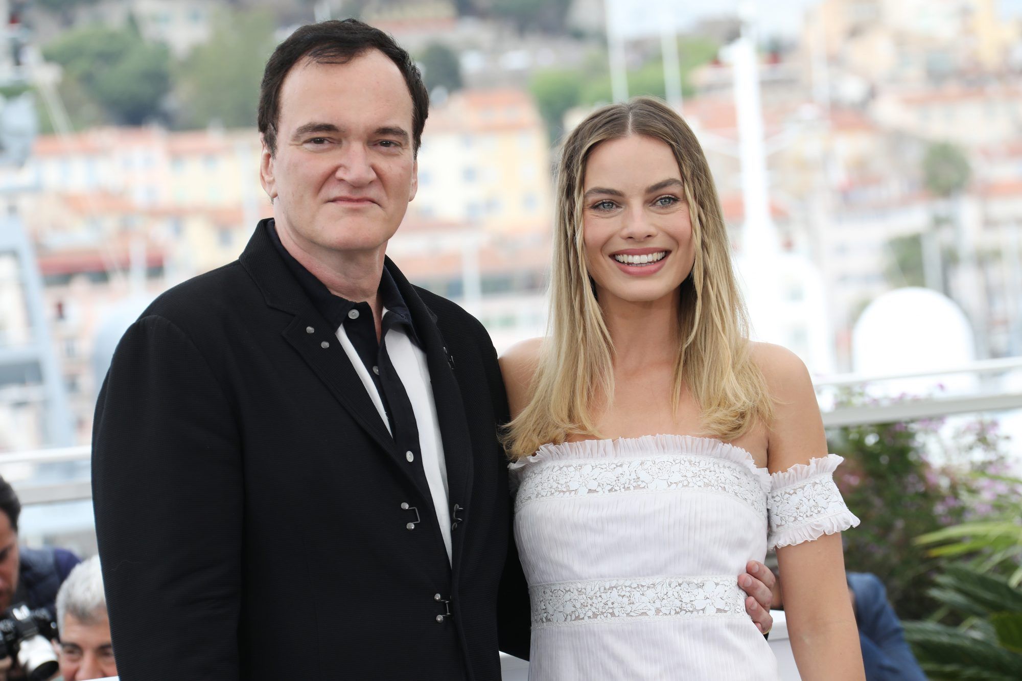 Quentin Tarantino and Margot Robbie -  Once Upon A Time In Hollywood  Photocall - The 72nd Annual Cannes Film Festival