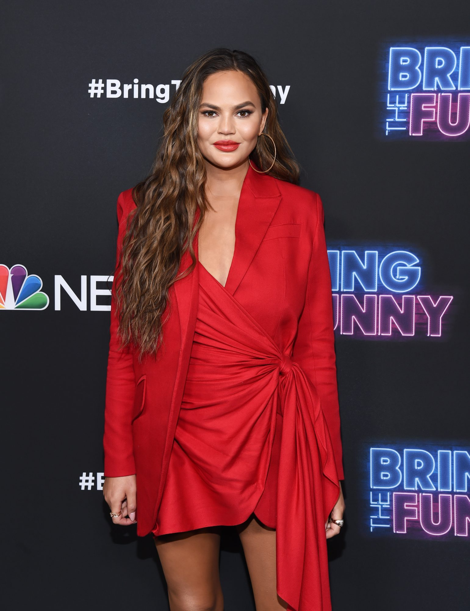 Chrissy Teigen Took Internet Trolls to Task When They Shamed Her for Going Braless