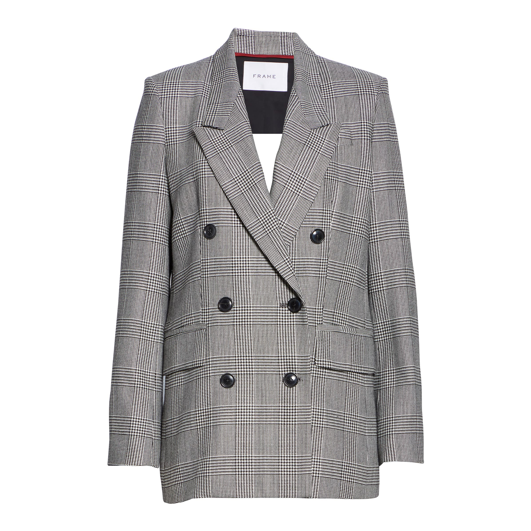 Glen Plaid Double Breasted Blazer