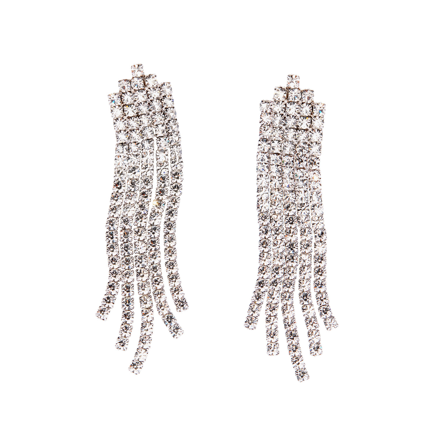 Theia Five Line CZ Waterfall Drop Earrings