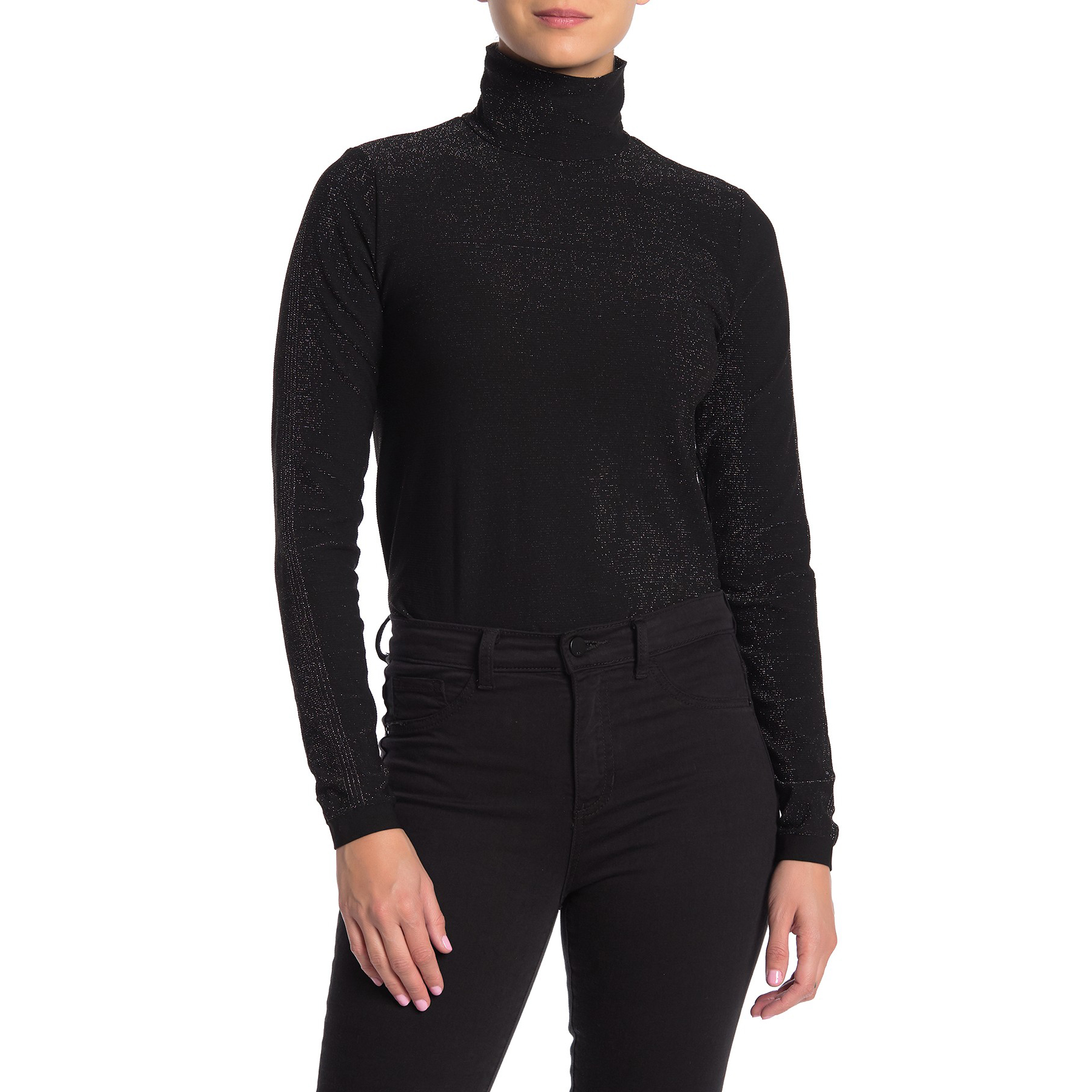 Wolford Metallic Knit Turtleneck Bodysuit