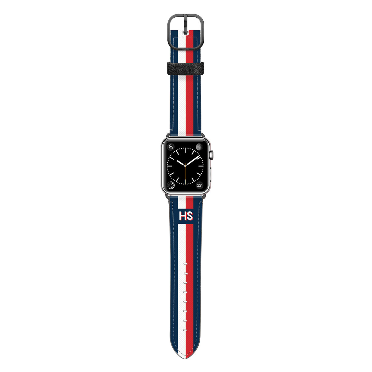 Casetify Saffiano Leather Initial Apple Watch Band