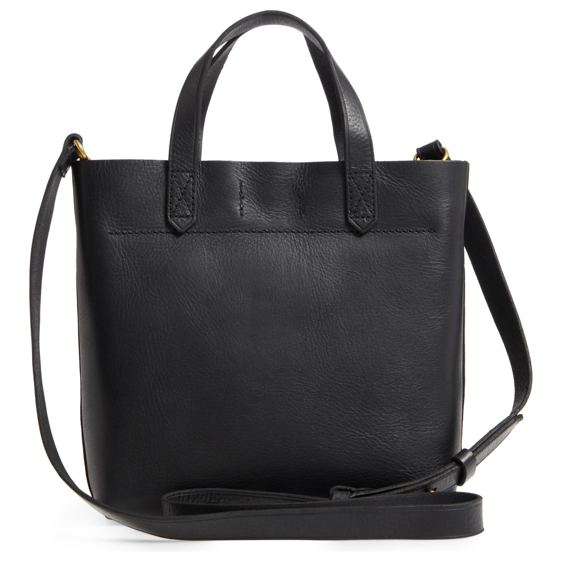 Madewell Small Transport Leather Crossbody Black