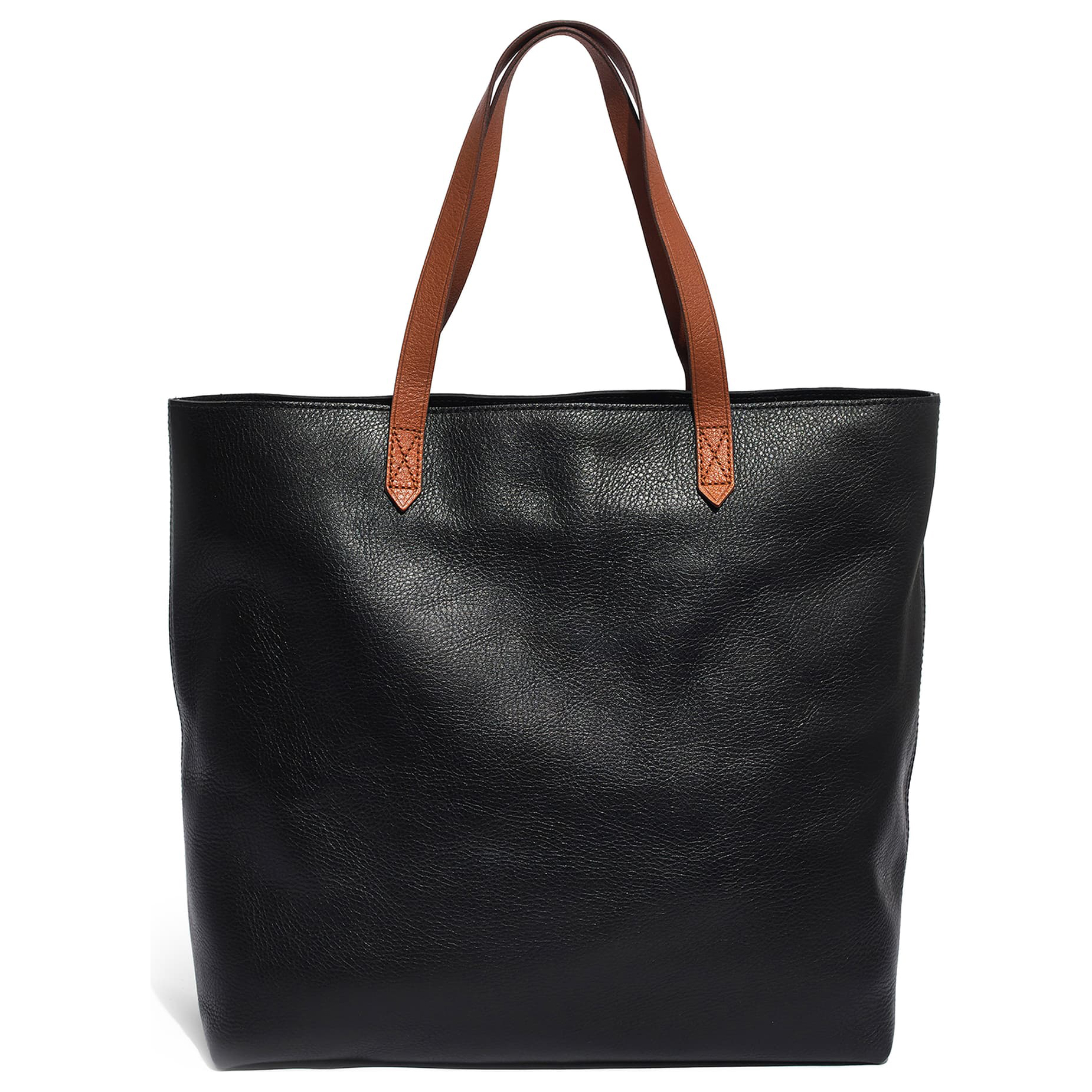 Madewell Zip Top Transport Leather Tote Black