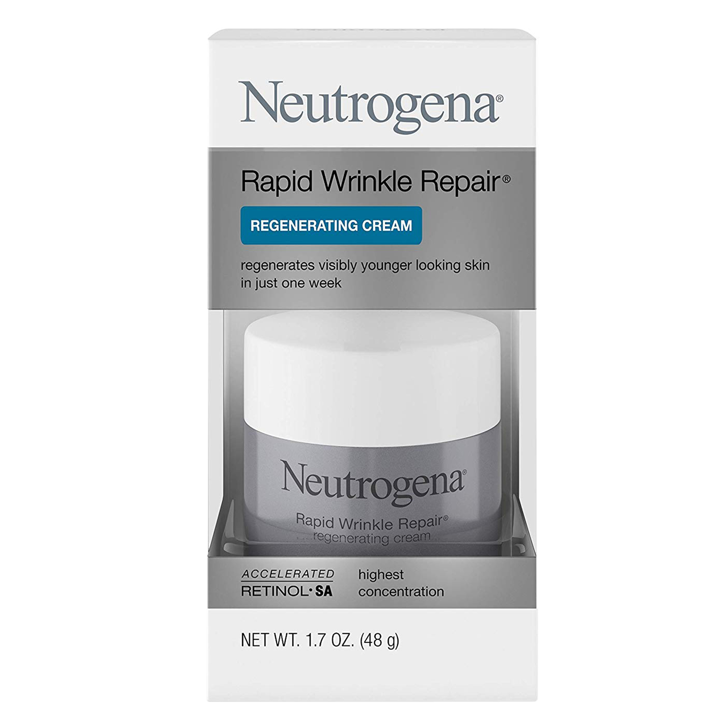 Neutrogena Rapid Wrinkle Repair Retinol Regenerating Face Cream & Hyaluronic Acid
