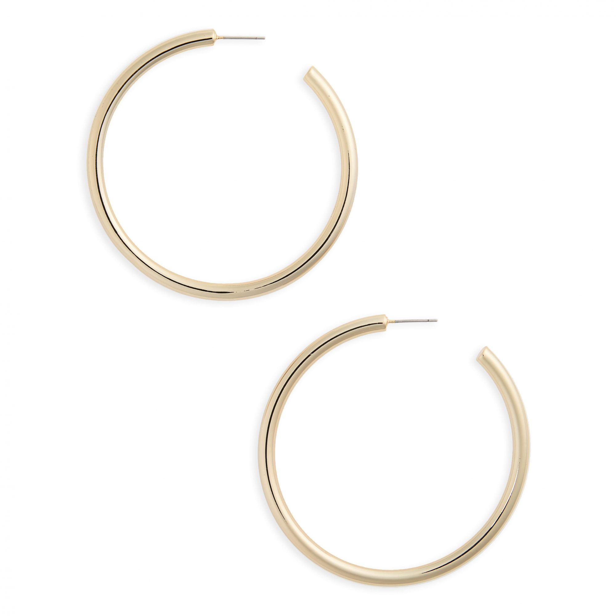 Halogen Large Sleek Tube Hoop Earrings
