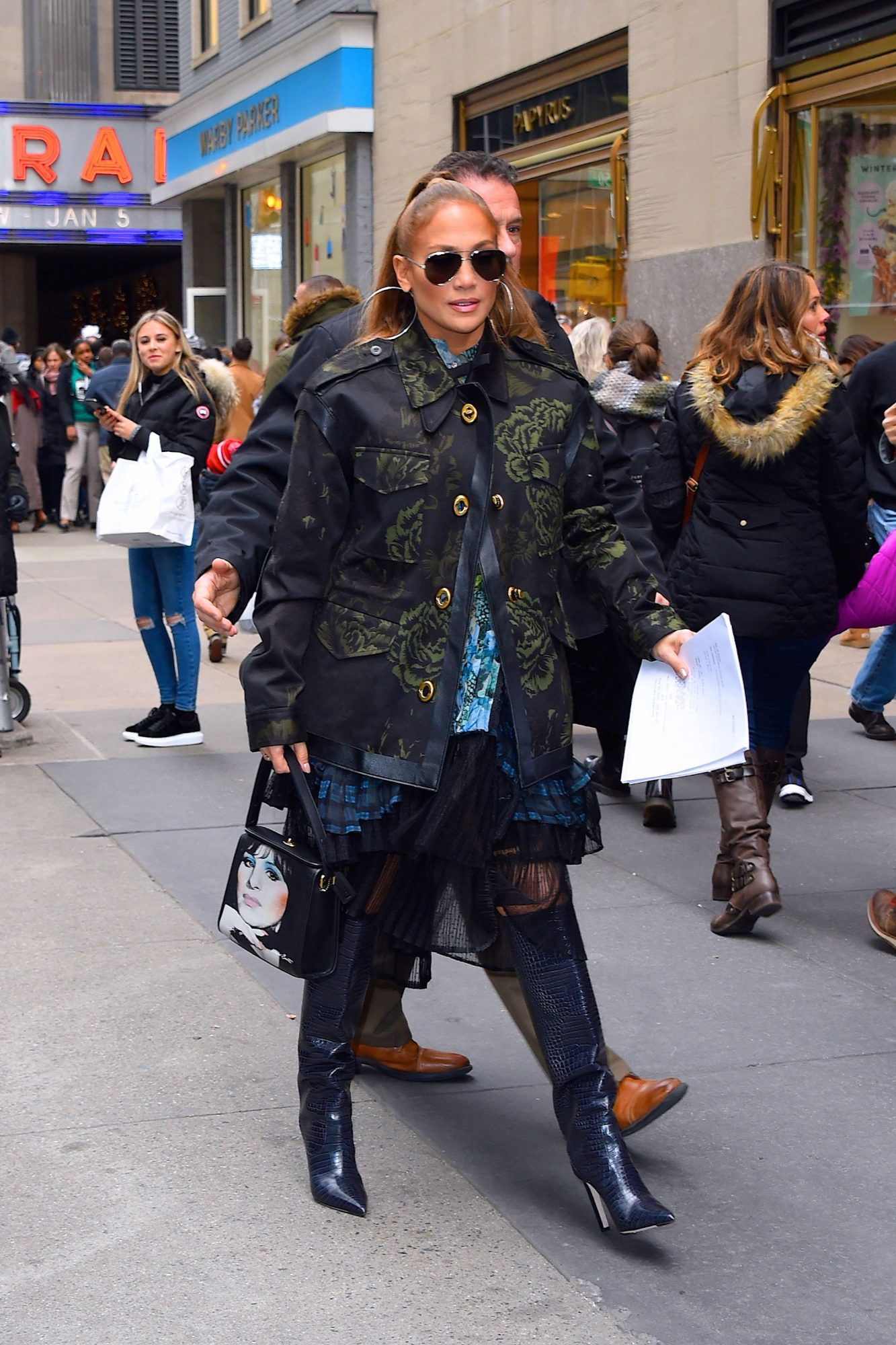 Jennifer Lopez Can't Stop Wearing This Expensive-Looking Boot Trend