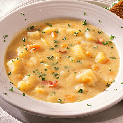 Roasted Garlic-Potato Soup