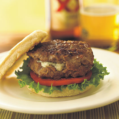 Blue Cheese-Stuffed Burgers Recipe
