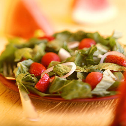 Spinach-and-Watermelon Salad Recipe
