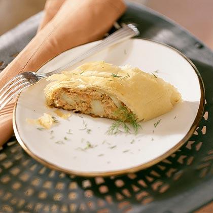 Caramelized Onion, Fig, and Blue Cheese Strudel Recipe | MyRecipes.com