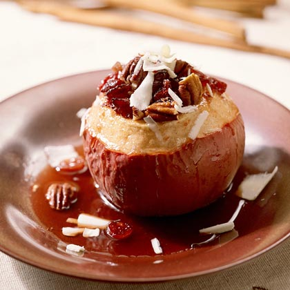 Maple-Cranberry Baked Apples Recipe