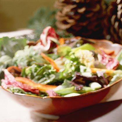 Field Salad with Warm Soy Dressing