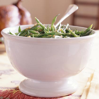 Green Beans with Bacon-Balsamic Vinaigrette Recipe