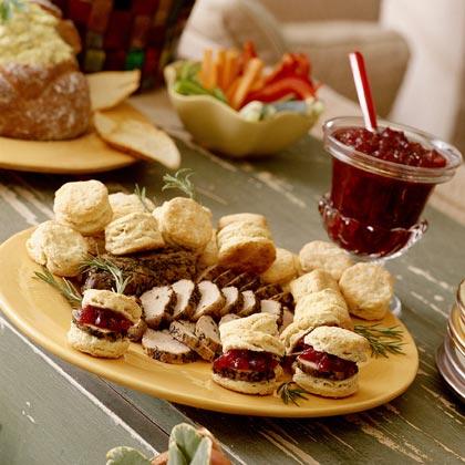 Pork-Filled Dijon-Pepper Biscuits