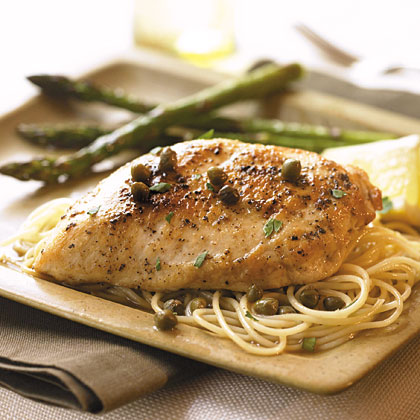 Chicken with Lemon-Caper Sauce Recipe | MyRecipes